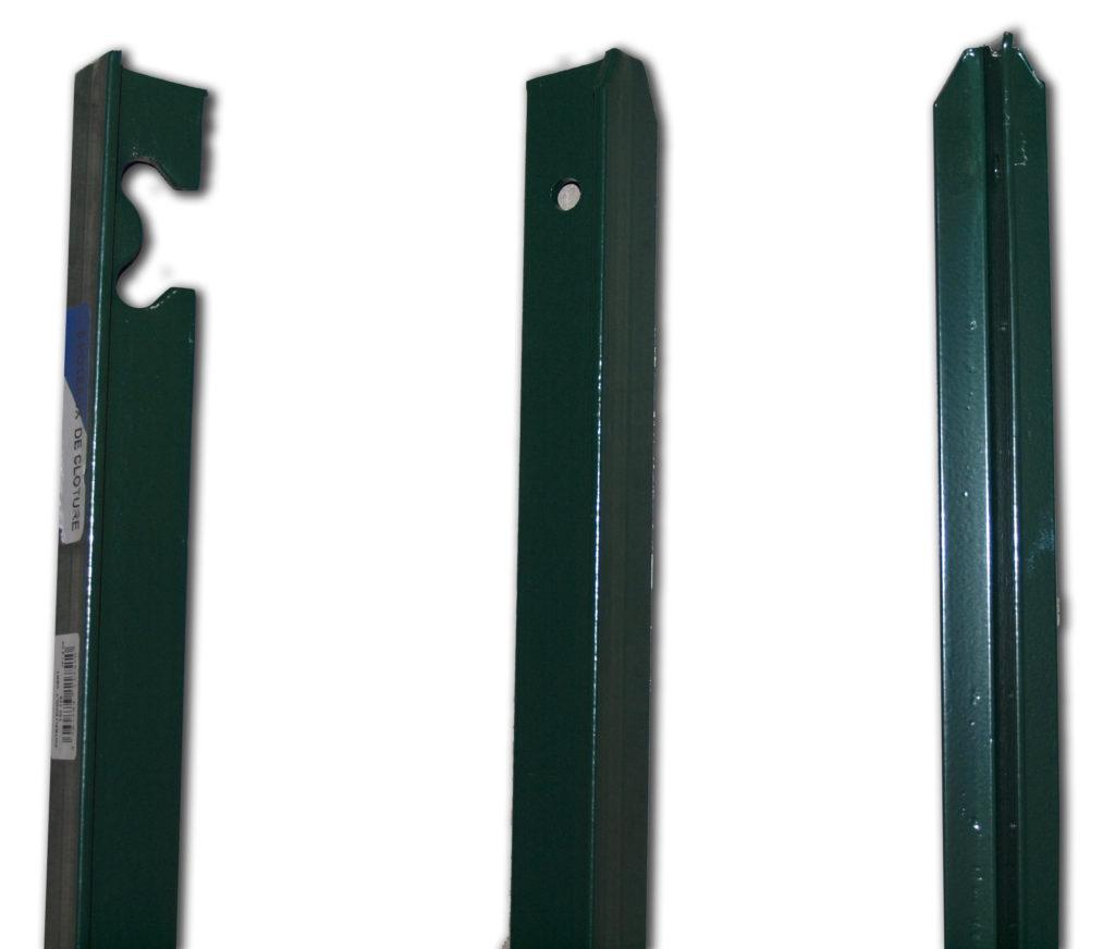 poteaux t section 25 et 40 rev tement plastifi vert. Black Bedroom Furniture Sets. Home Design Ideas