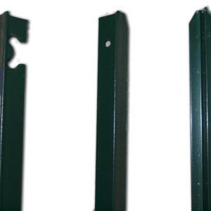 Poteaux T section 25 et 40, revêtement plastifié vert