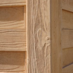 Poteau structuré bois