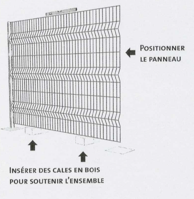 Poser sa clôture panneau rigide Etape4-1
