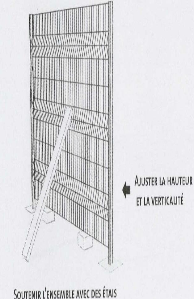 Poser sa clôture panneau rigide Etape5
