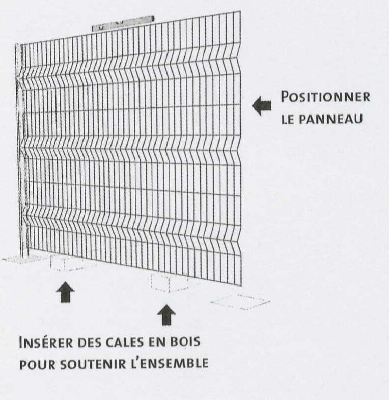 poser sa cl ture panneau rigide atout clotures b ton bois rigide semi rigide simple. Black Bedroom Furniture Sets. Home Design Ideas