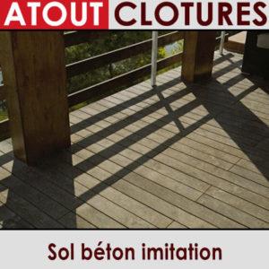 Sol béton imitation