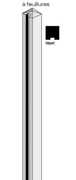 Poteaux b ton d part 12x12 atout clotures b ton bois - Poteau beton 12x12 ...