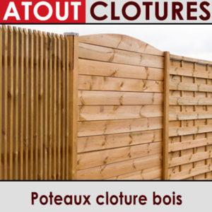 Poteaux cloture bois