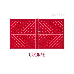 Garonne lames à 45°