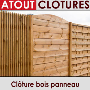 Clôture bois panneau
