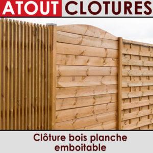 Clôture bois planche emboitable