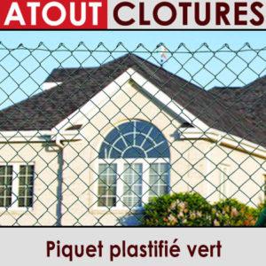 Piquet plastifié vert